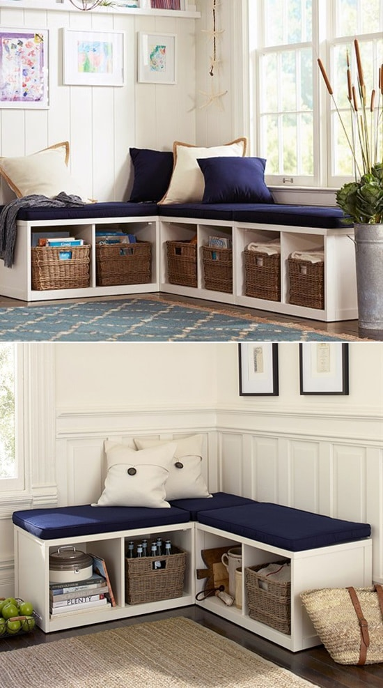 small bedroom storage ideas - have a double purpose bench