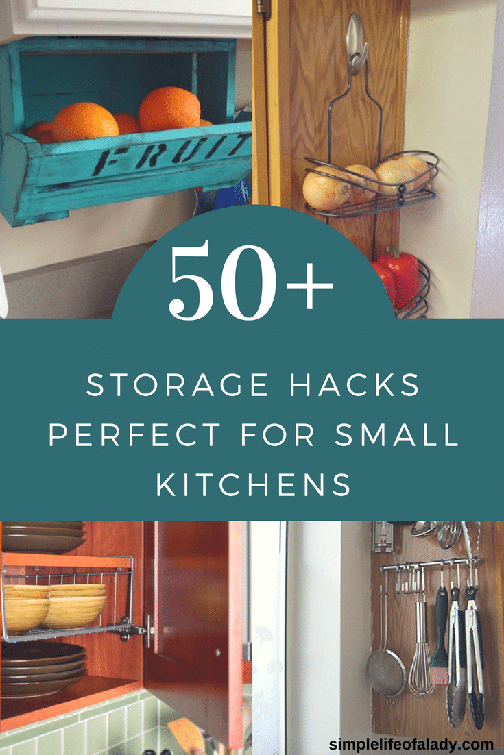 50+ Clever Storage Hacks to Maximize Small Kitchens - Simple Life of ...
