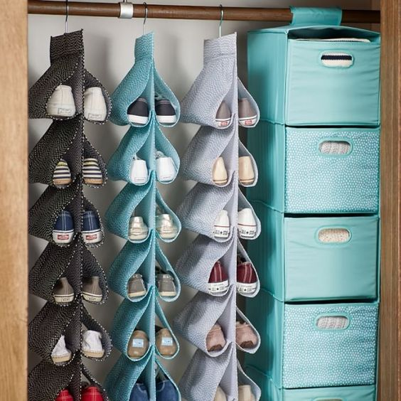 Organize shoes-  hanging shoe organizer