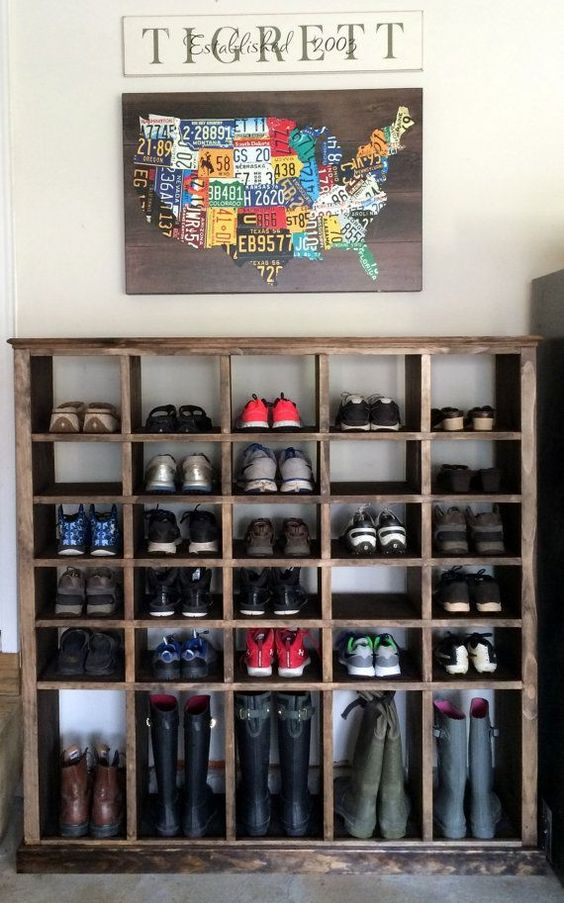 Organize shoes - shoe cubby