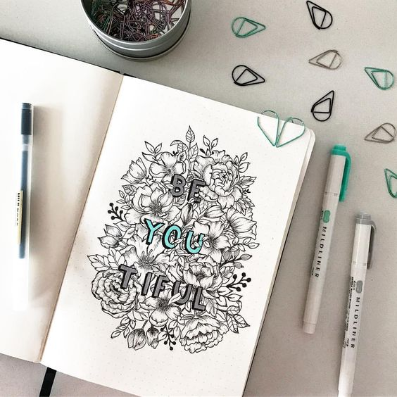 artistic monthly cover page