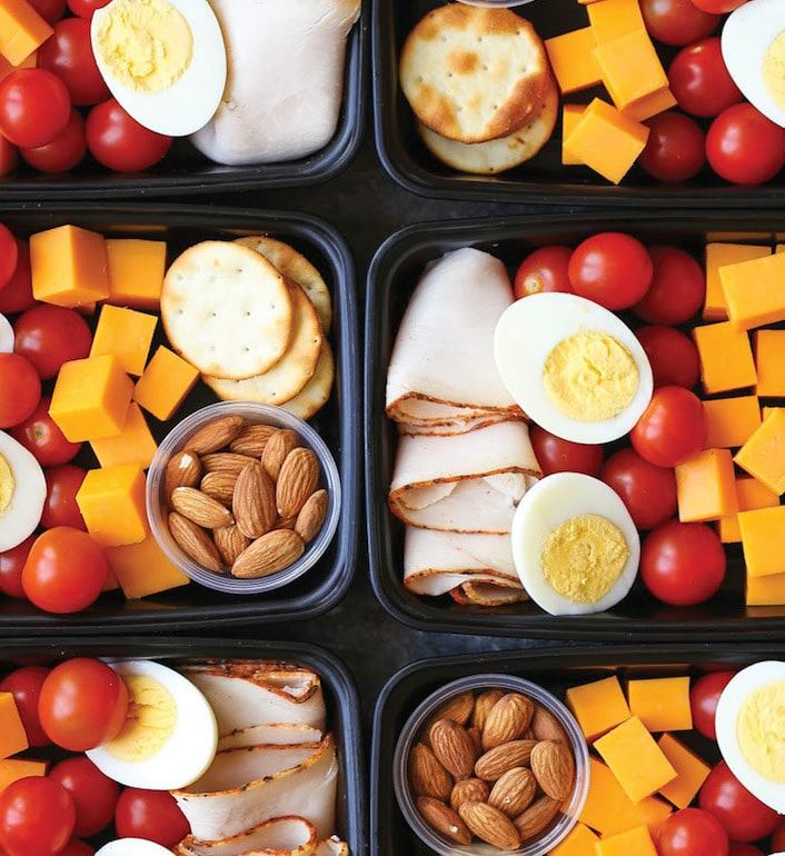 healthy meal prep - deli snack box