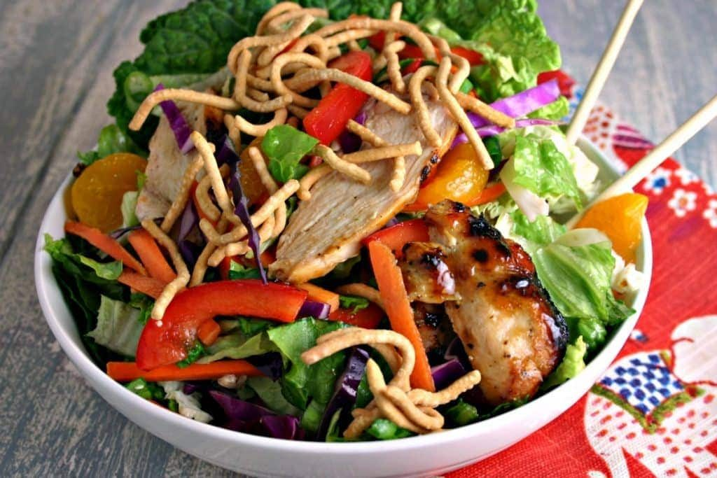 healthy meal prep - Asian chicken salad