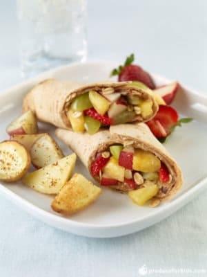 healthy meal prep - cosmic fruit wrap