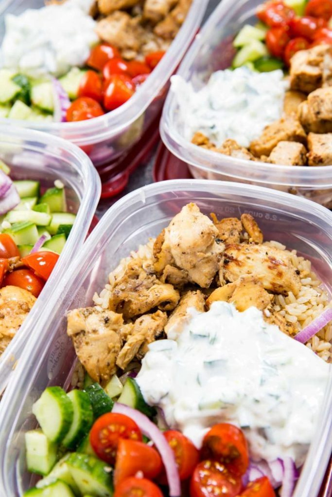 healthy meal prep - greek chicken meal