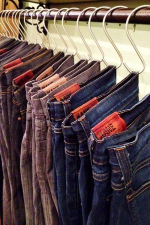 small bedroom storage ideas - use S-hooks to hang your pants