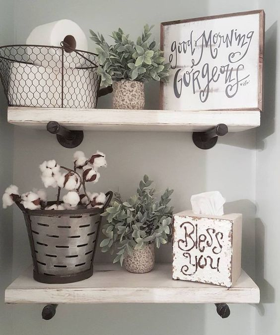 wire baskets for storage - organize toiletries