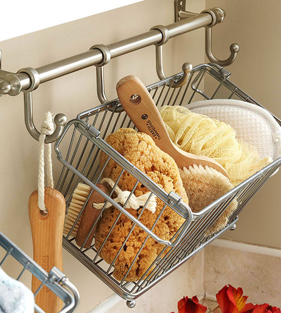 wire baskets for storage - shower caddy