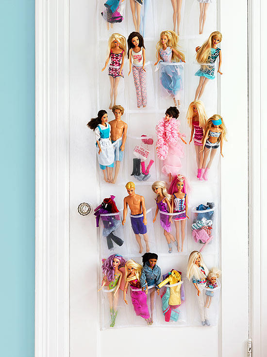 toy storage - shoe organizer for dolls