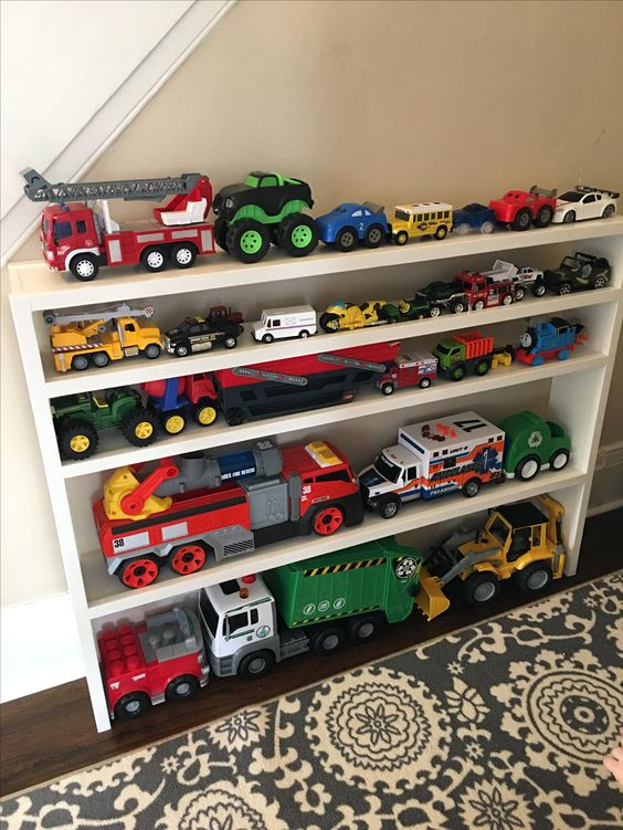 toy storage - mini shelf for toy cars