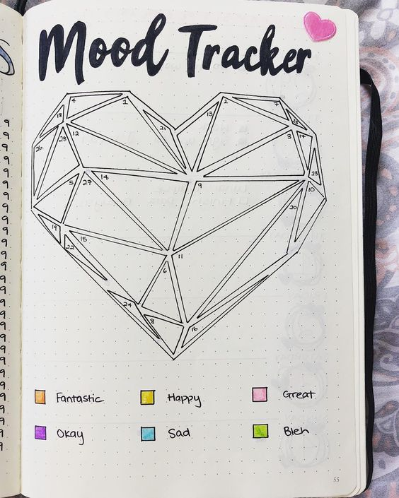 mood tracker - heart