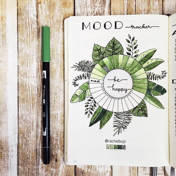 mood tracker - leaves