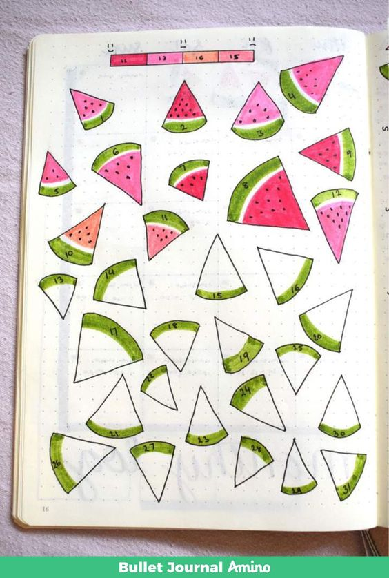 mood tracker - small watermelon
