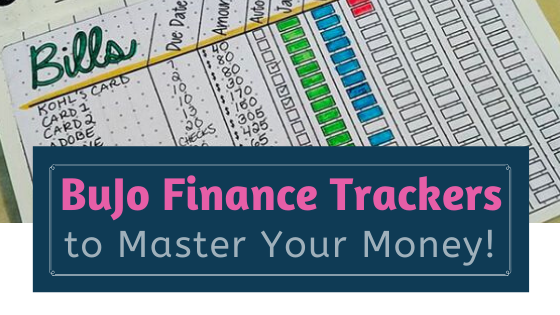 Financial Tracker Layouts