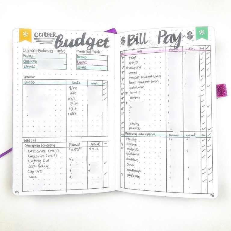 Financial tracker - monthly budget