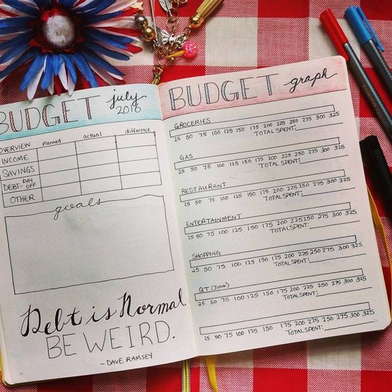 budget for the month