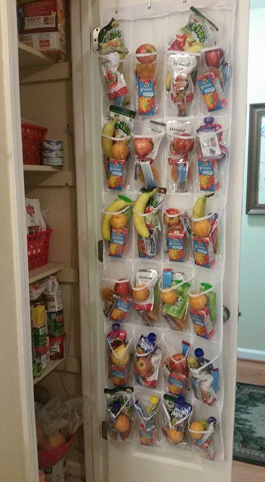 using shoe organizer in the pantry