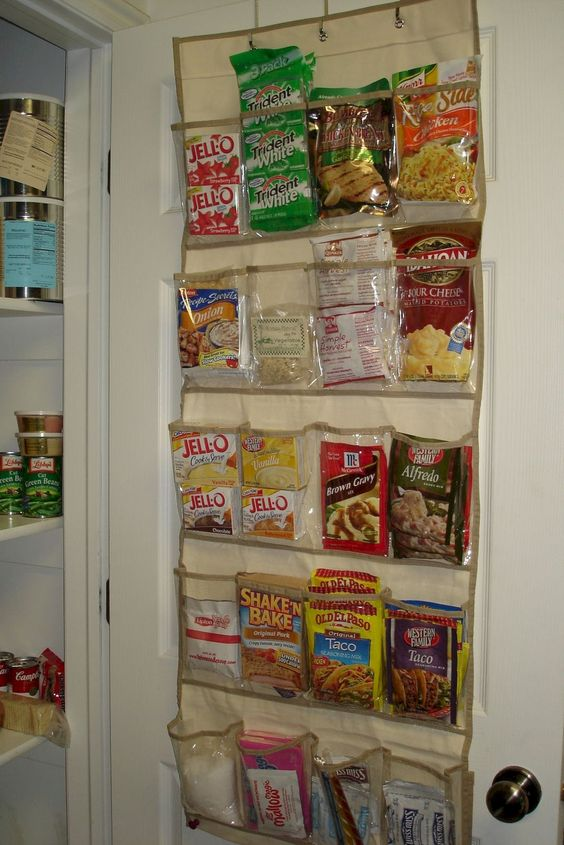 pantry organization ideas - using a shoe organizer