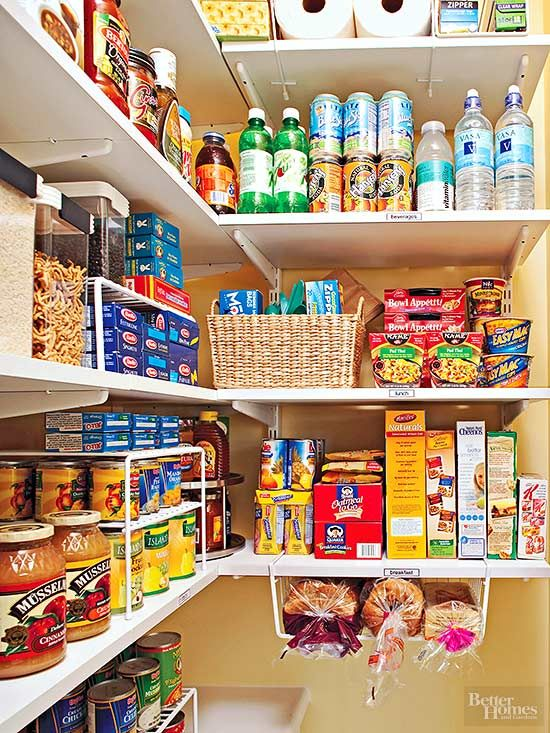 Under the shelf is a nice, yet often forgotten space in the pantry.
