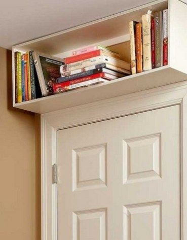 mini bookshelf above the door