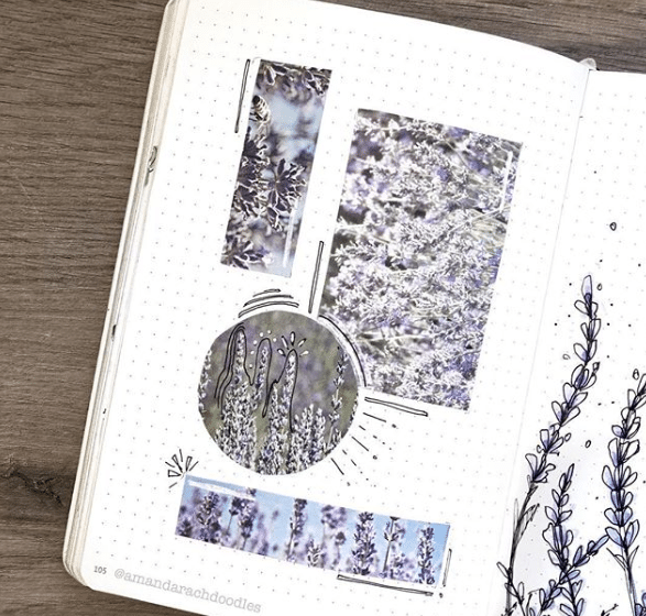 creating a collage using washi tape