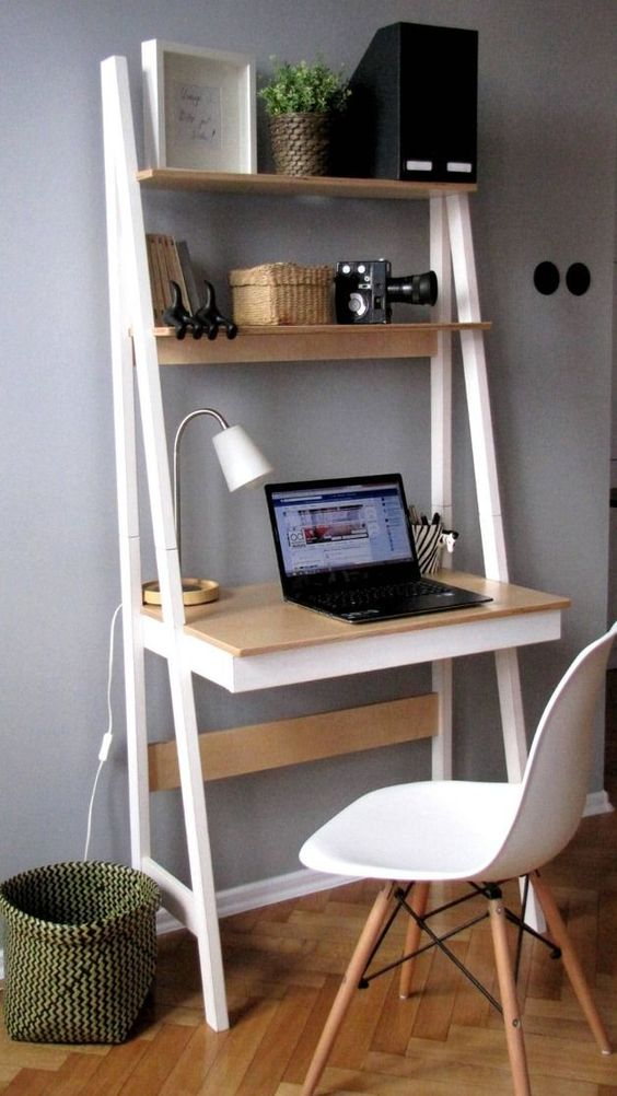 bedroom shelves - multi purpose ladder