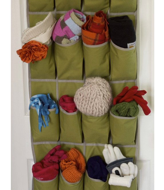 over the door shoe organizer - for winter gloves and scarves