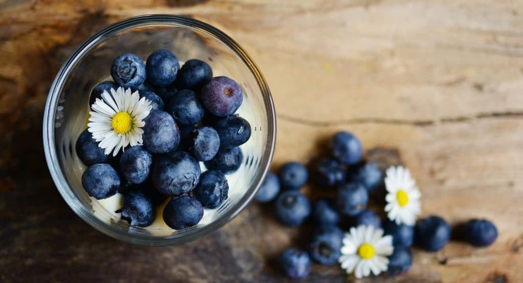 Blueberries - the main ingredient in this healthy blue-tiful blueberry recipe