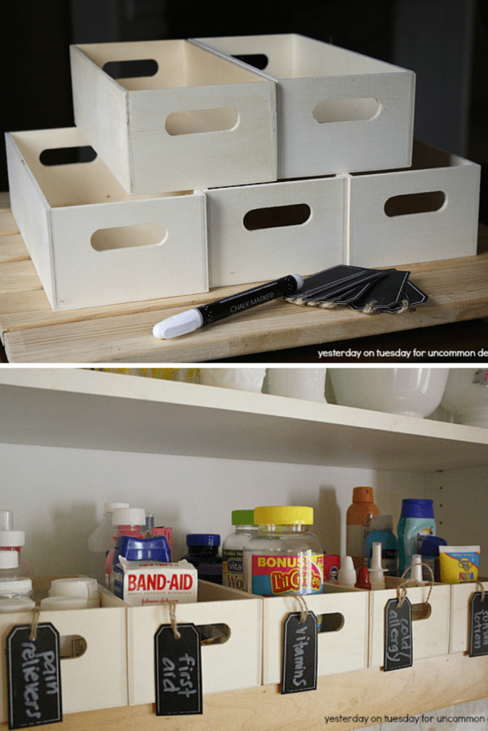ideas for storing medicine - wooden craft boxes for storing medicine