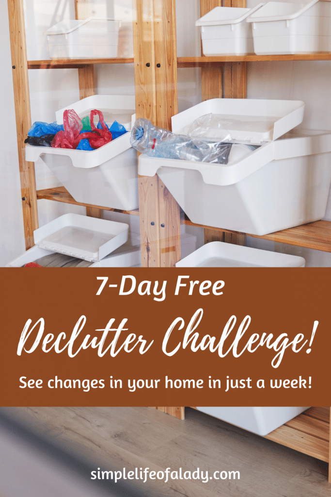 Join our 7-day free declutter challenge and see changes in your home in just a week!