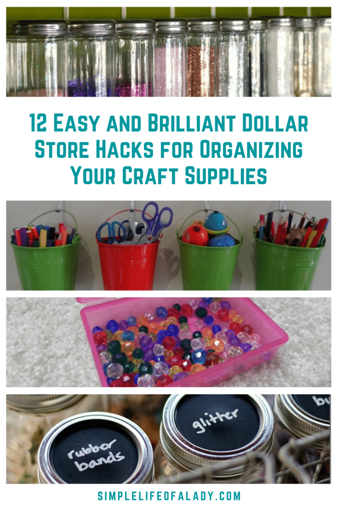 Organize your craft supplies on a budget with these creative dollar store organization ideas!