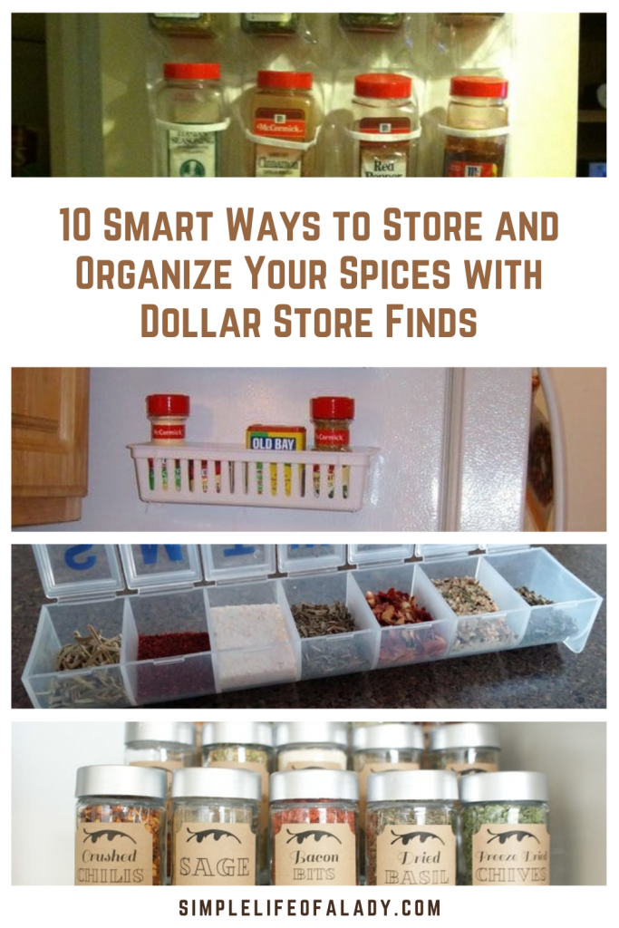 Organize your spices on a budget with these dollar store organization ideas!