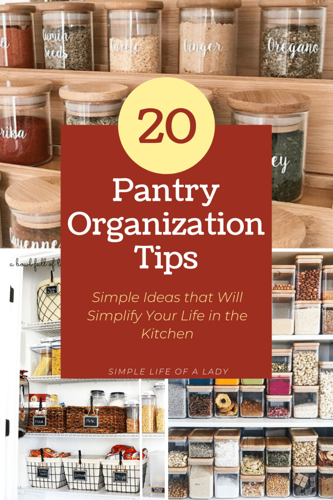 how to organize the pantry for a simplified life in the kitchen
