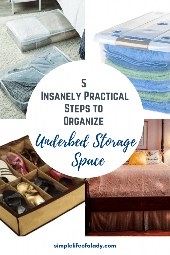 tips for organizing the space under the bed