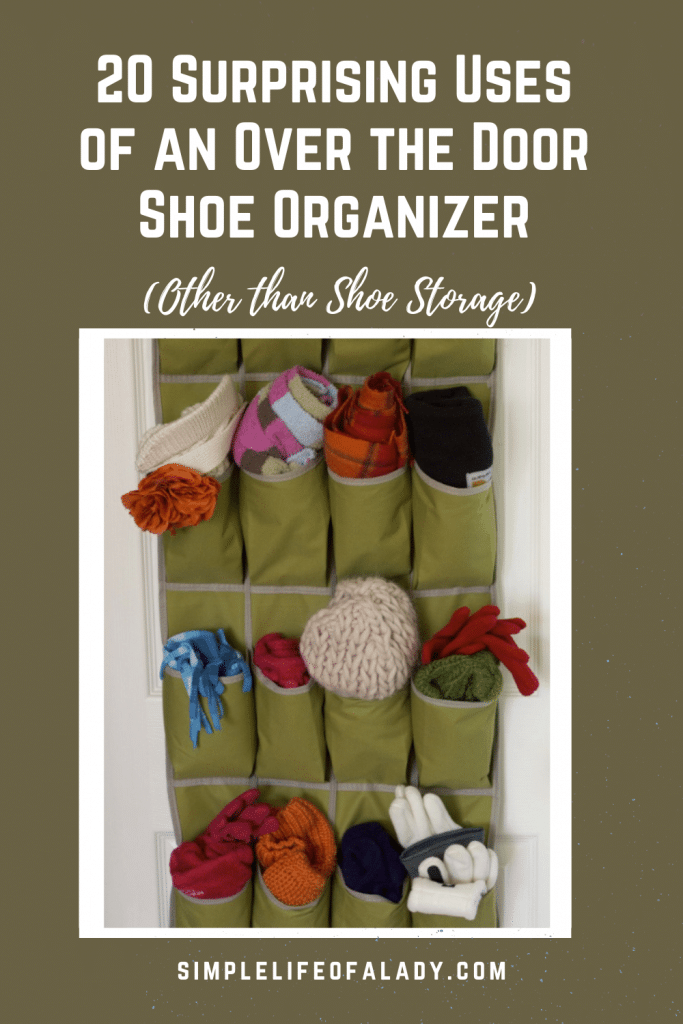 how to use an over the door shoe organizer to organize things in the home
