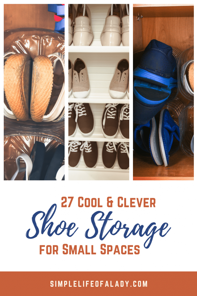 Tips for organizing shoes in small spaces.