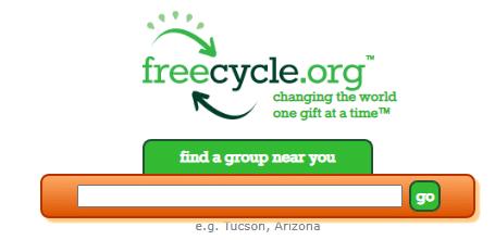 Donate books through Freecyle