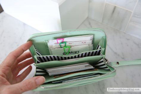 ordinary wallet turned into a coupon wallet