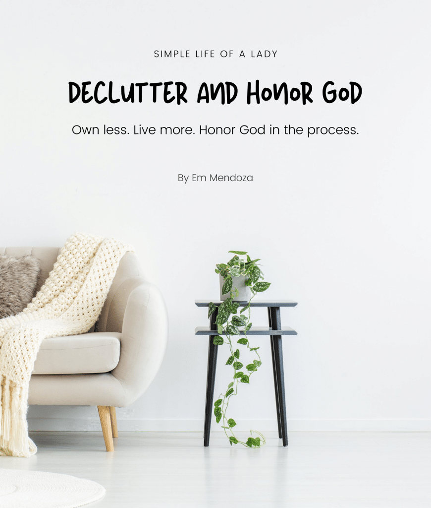 Books on Declutter - Declutter & Honor God eBook