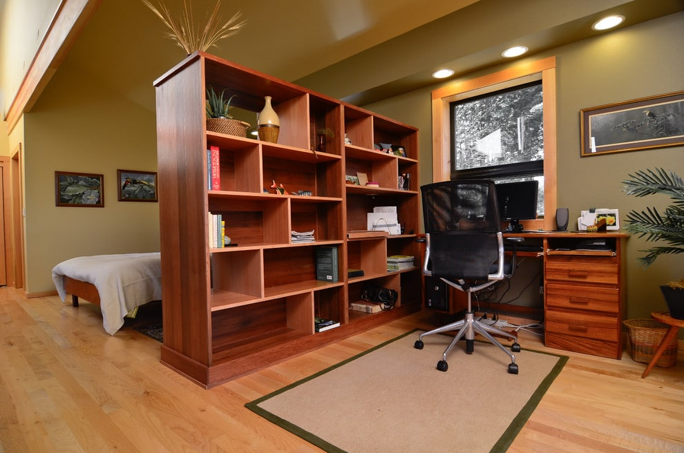 Divide the room with a bookcase