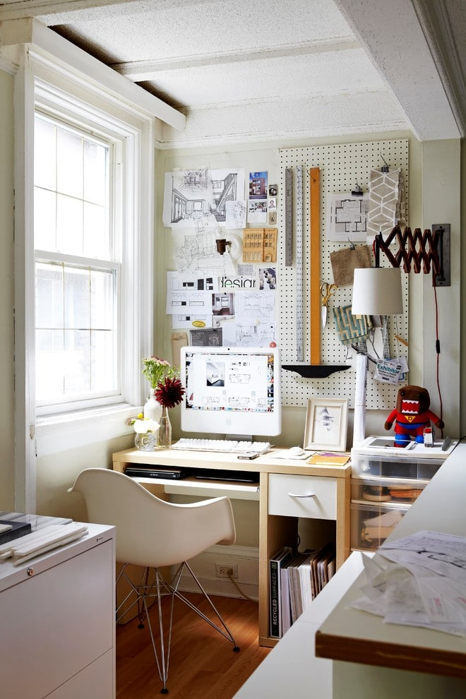home office ideas for small spaces - desk beside the window