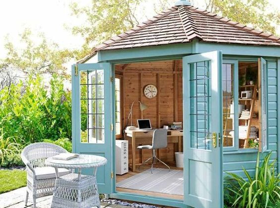 a home office at the backyard