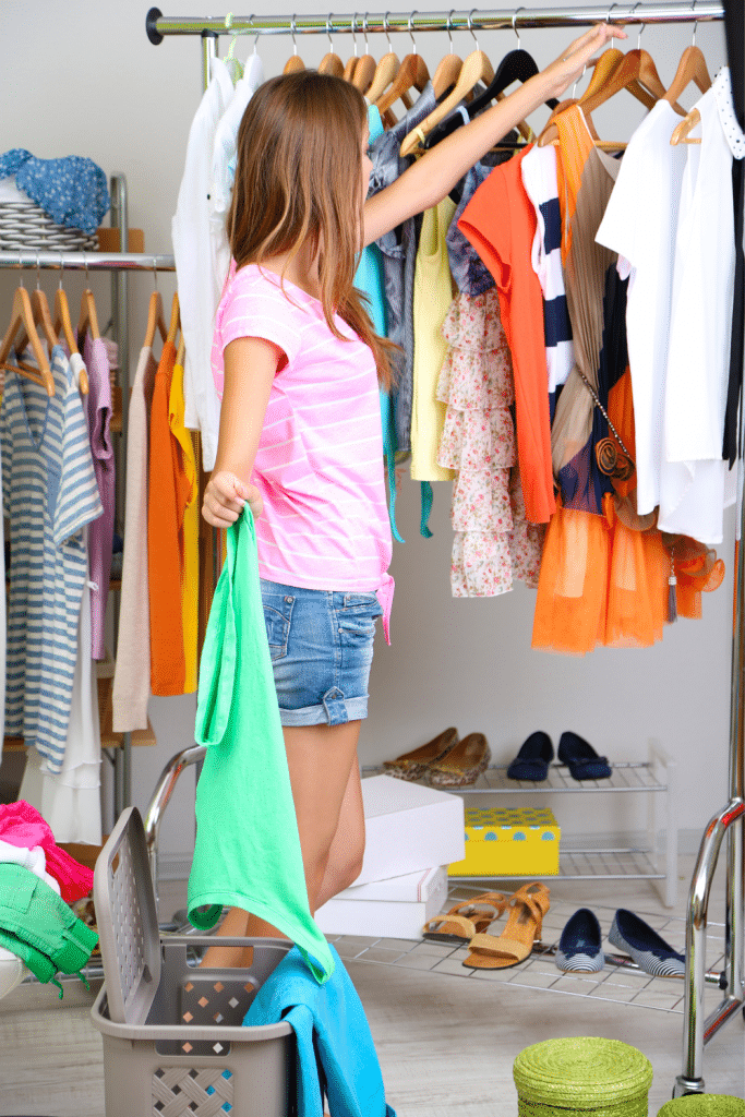 small closet organization ideas - clear out seasonal clothes