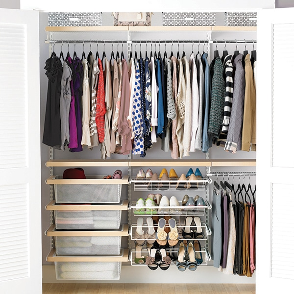 a separate shoe rack for shoes
