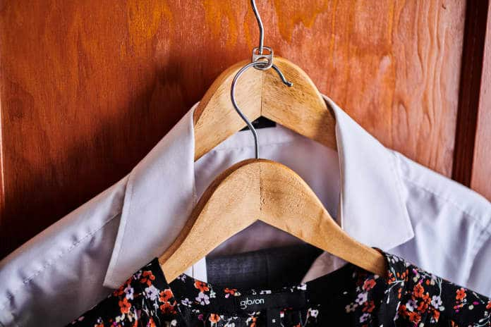 small closet organization ideas - Use the tab from soda cans to double your hanger space.