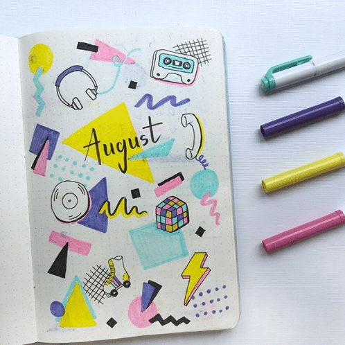 80s theme monthly cover page