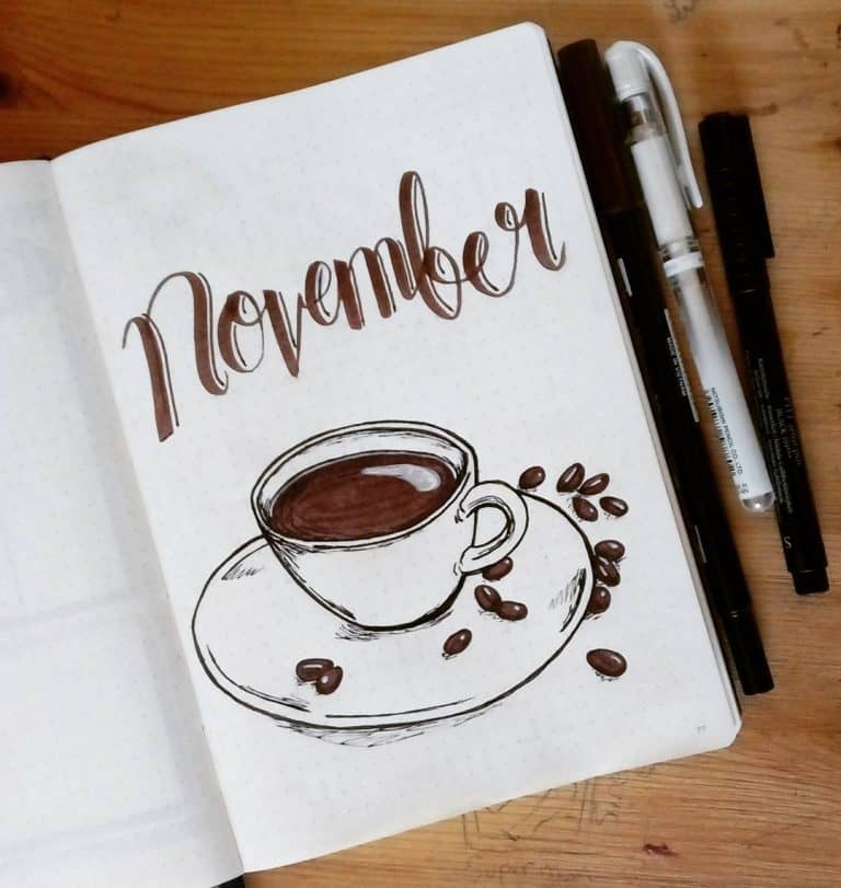 coffee theme monthly cover page