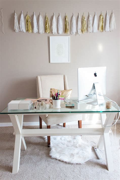 feminine home office decor ideas - a string of tassels