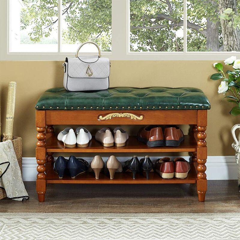 shoe storage for entryway - open shoe storage bench