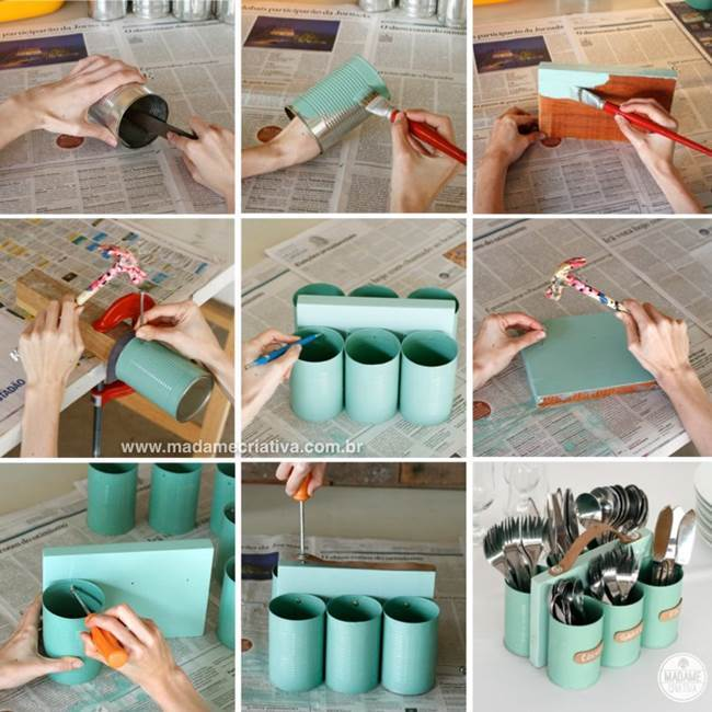 recycle can - Utensil holders